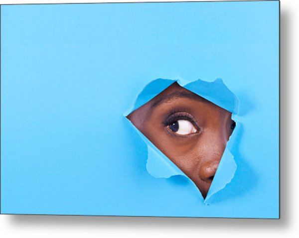 Is There Something There? Metal Print by PeopleImages