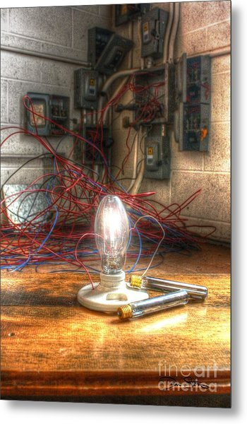 Is This Right Mr. Edison? Metal Print