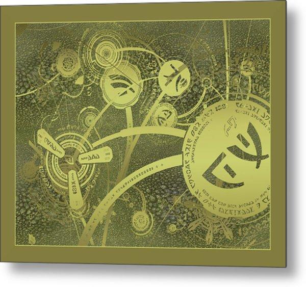 Isaac Caret Texture Metal Print