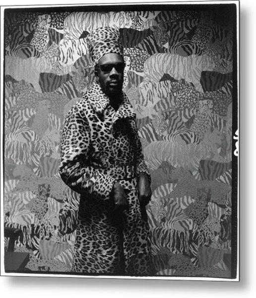 Isaac Hayes Wearing Leopard Print Metal Print by Peter Hujar