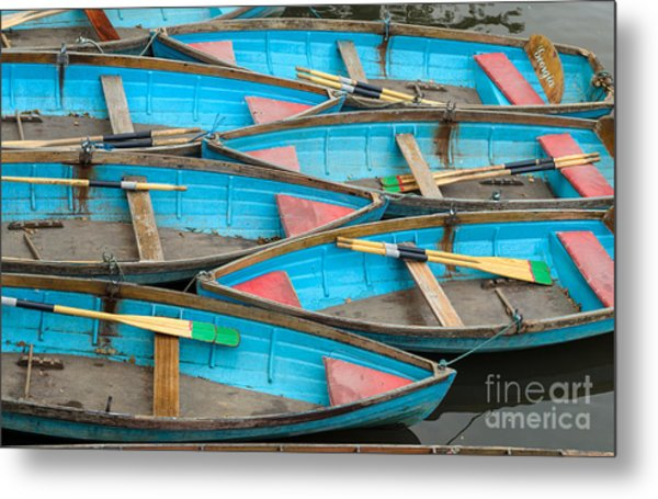 Isis Rowing Boats Metal Print by OUAP Photography