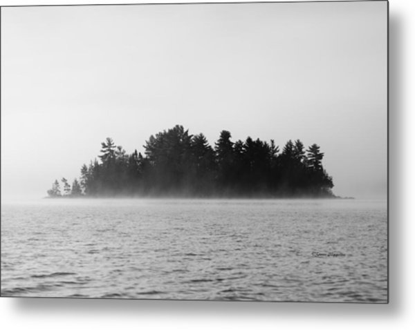 Island In The Mist Metal Print
