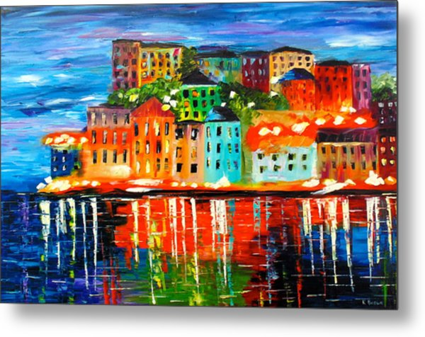 Metal Print featuring the painting Island Lights by Kevin  Brown