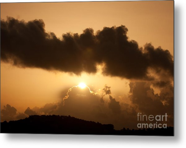 Island Morning Light Metal Print