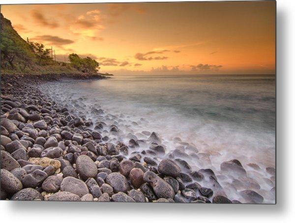 Island Sunset In Oahu Metal Print