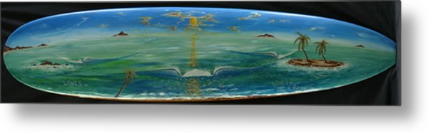 Island Surf Dreams Metal Print