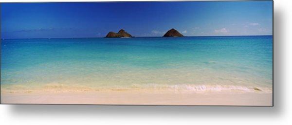 Islands In The Pacific Ocean, Lanikai Metal Print