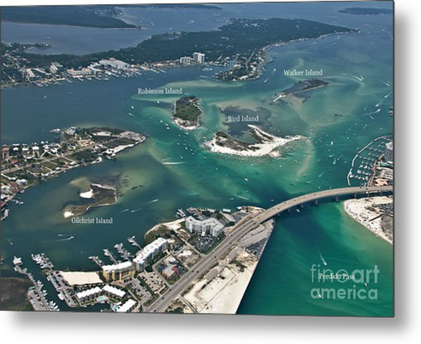 Islands Of Perdido - Labeled Metal Print