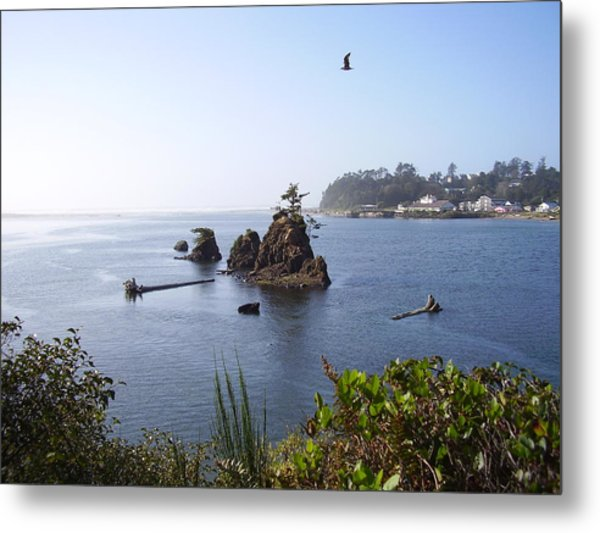 Islands On The  Coast Metal Print by Yvette Pichette