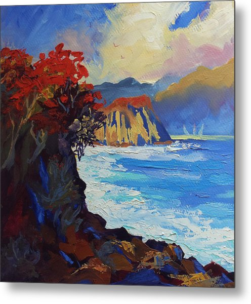 Islands Seascape Original Oil Painting Metal Print