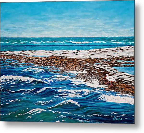 Metal Print featuring the painting Isle Of Innocence by Donna Proctor