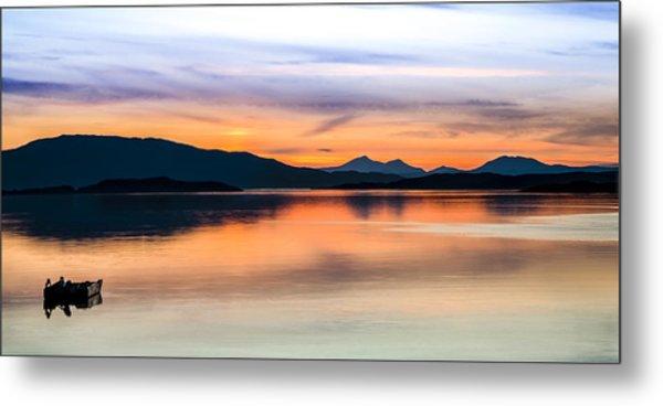 Sunset Isle Of Jura Scotland Metal Print