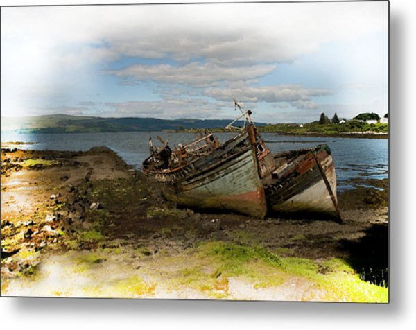 Isle Of Mull Boats Metal Print