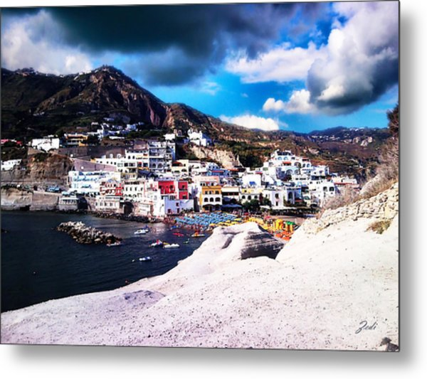 Isola Di Ischia Sant'angelo - The Island Of Ischia Sant'angelo Metal Print