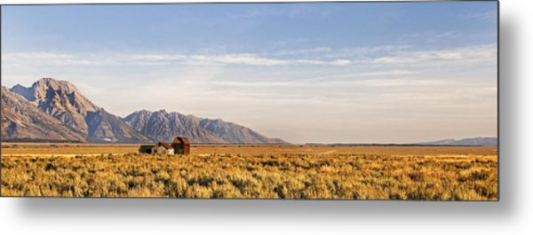 Isolated  Homestead   The Grand Tetons Metal Print