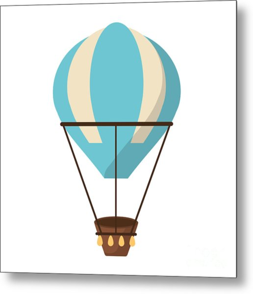 Isolated Hot Air Balloon Design Metal Print by Jemastock