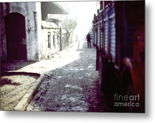 Istanbul Man In The Distance Metal Print by Scott Shaw