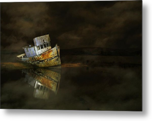 It All Ends In The Fog Metal Print