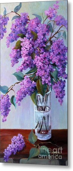 It Is Lilac Time Metal Print by Marta Styk