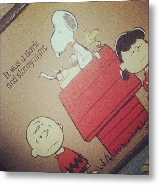 It Was A Dark And Stormy Night. #snoopy Metal Print
