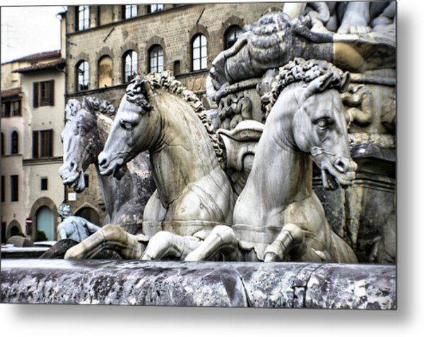 Italian Fountain Metal Print