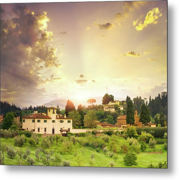 Italian  Landscape Metal Print by Dtokar