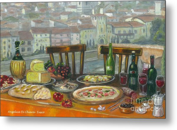Italian Lunch Metal Print