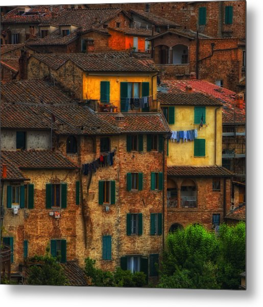 Italian Village View Metal Print