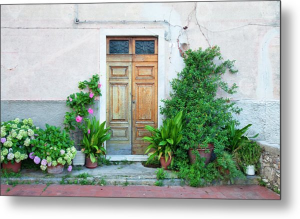 Italy Liguria - Village La Serra - Door Metal Print