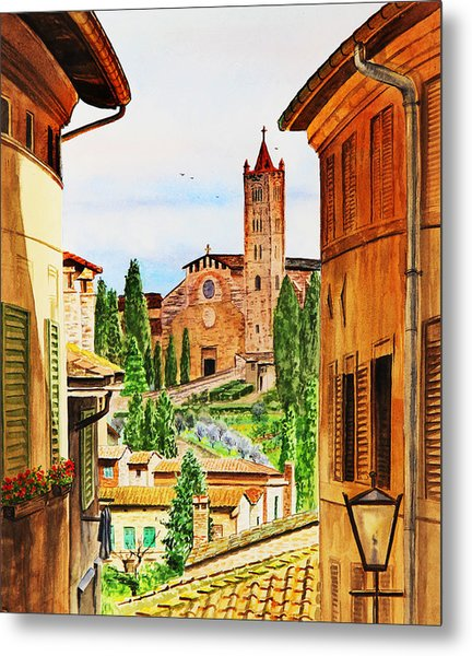 Italy Siena Metal Print