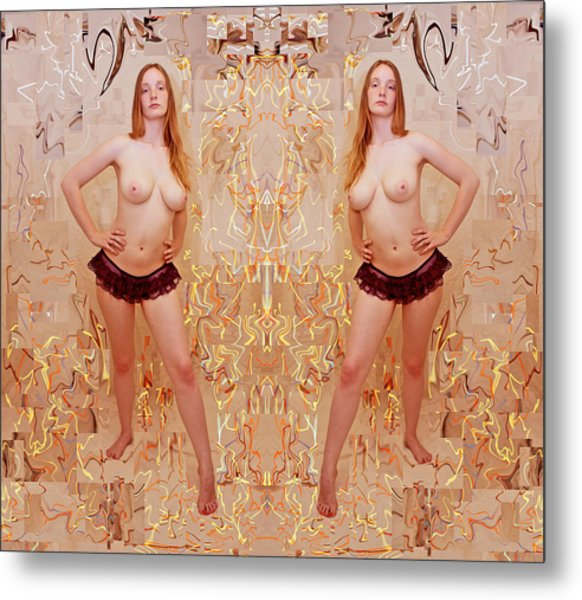Iterative Person Panties Lines 2012 Metal Print