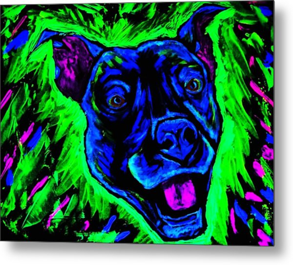 It's A Pitty Black Light Metal Print