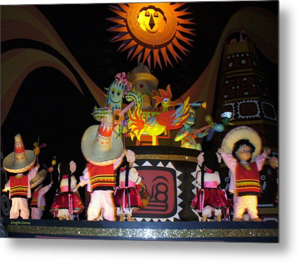 It's A Small World With Dancing Mexican Character Metal Print
