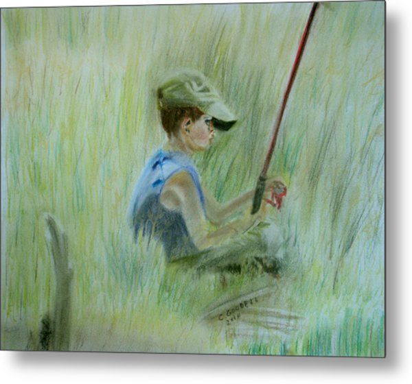 Ivan And The Red Rod Metal Print