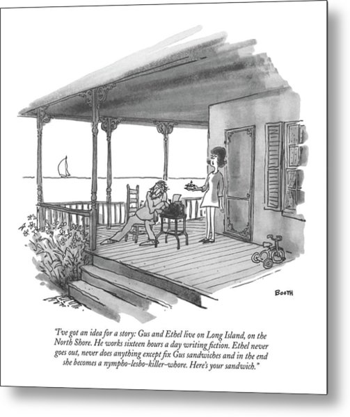 I've Got An Idea For A Story: Gus And Ethel Live Metal Print