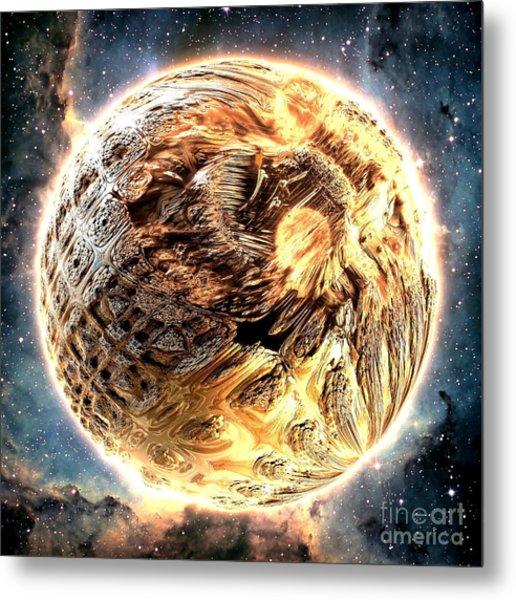 Ivory Planet Metal Print by Bernard MICHEL