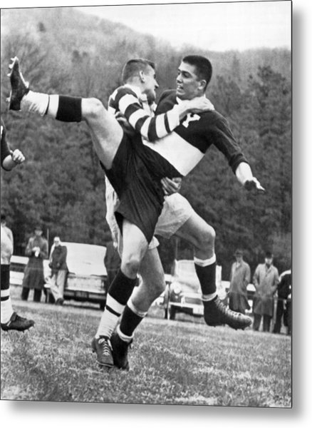 Ivy League Rugby Match Metal Print