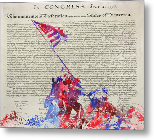 Iwo Jima Declaration Of Freedom Metal Print