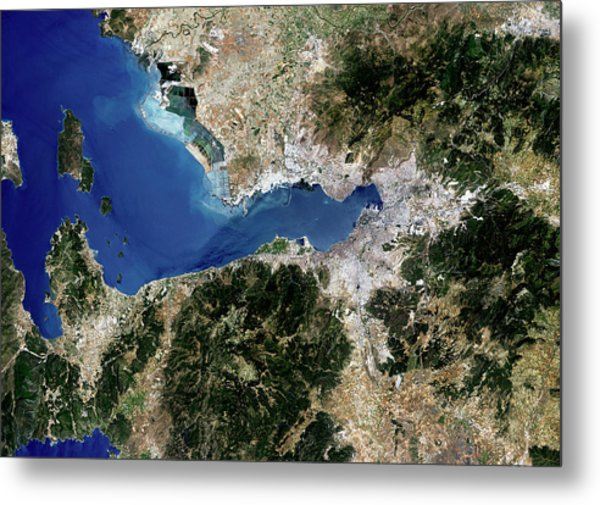 Izmir Metal Print by Planetobserver/science Photo Library