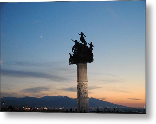 Izmir War Monument On Kordon Metal Print by Jacqueline M Lewis