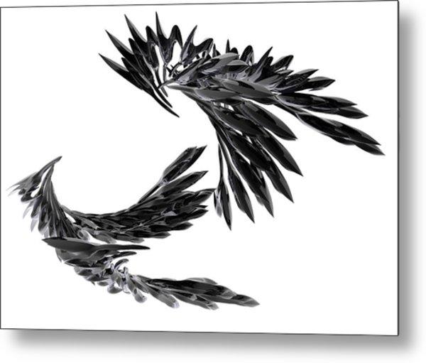 J Big   Crows Metal Print