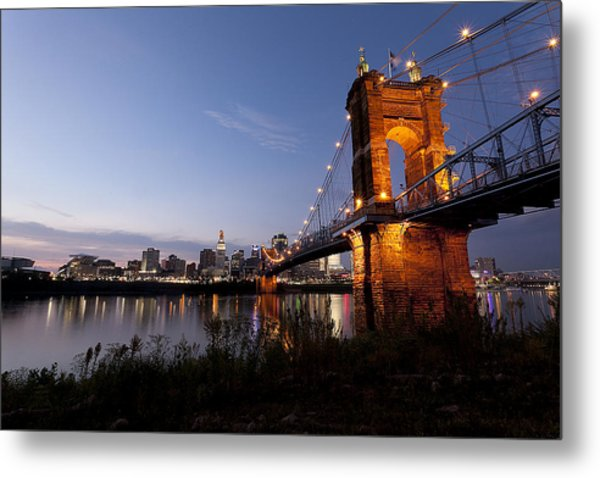 Ja Roebling Bridge Metal Print