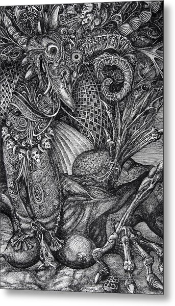 Jabberwocky Metal Print