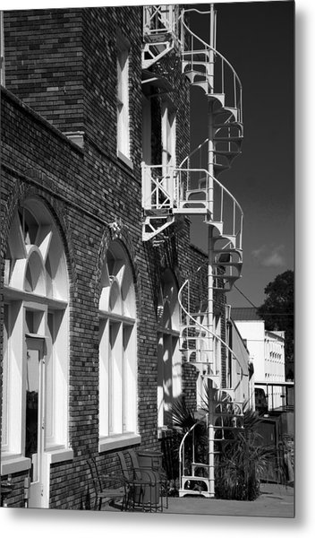 Jacaranda Hotel Fire Escape Metal Print