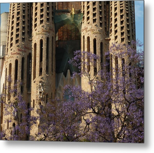 Jacaranda In Barcelona Metal Print by Christine Burdine