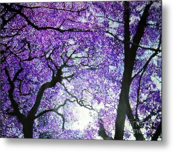 Jacarandas By The River Metal Print