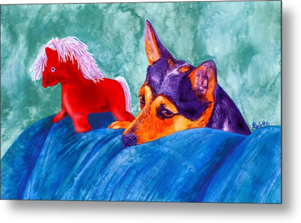 Jack And Red Horse Metal Print