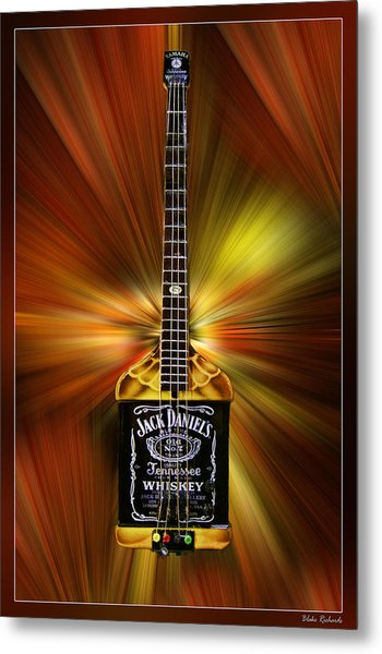 Jack Daniels Whiskey Guitar Metal Print