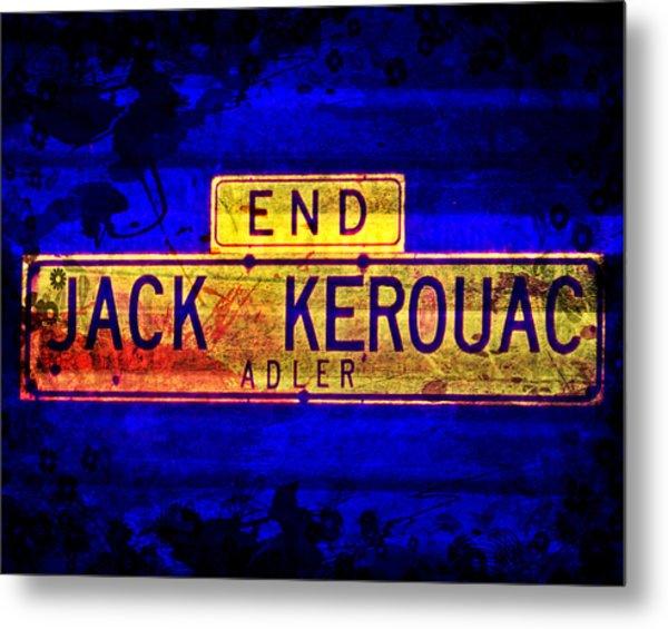 Jack Kerouac Alley Metal Print