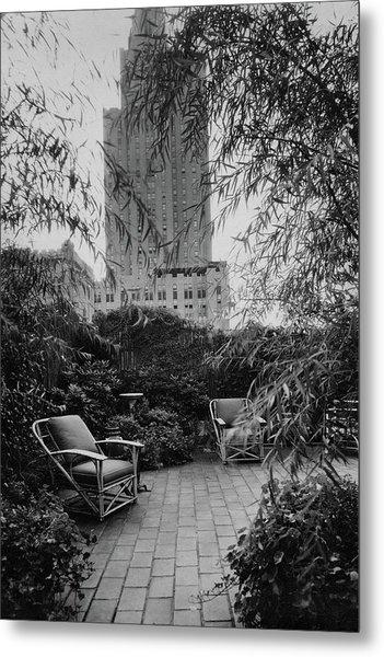 Jack Little's Garden In New York City Metal Print